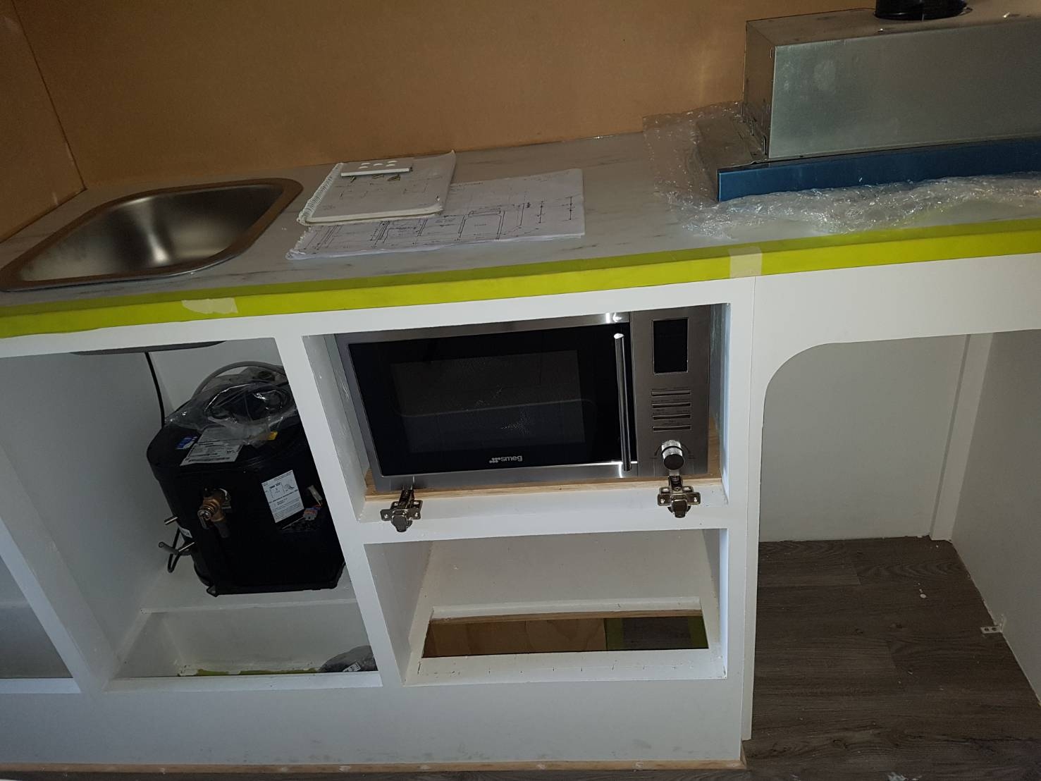 kitchen refit for caravans