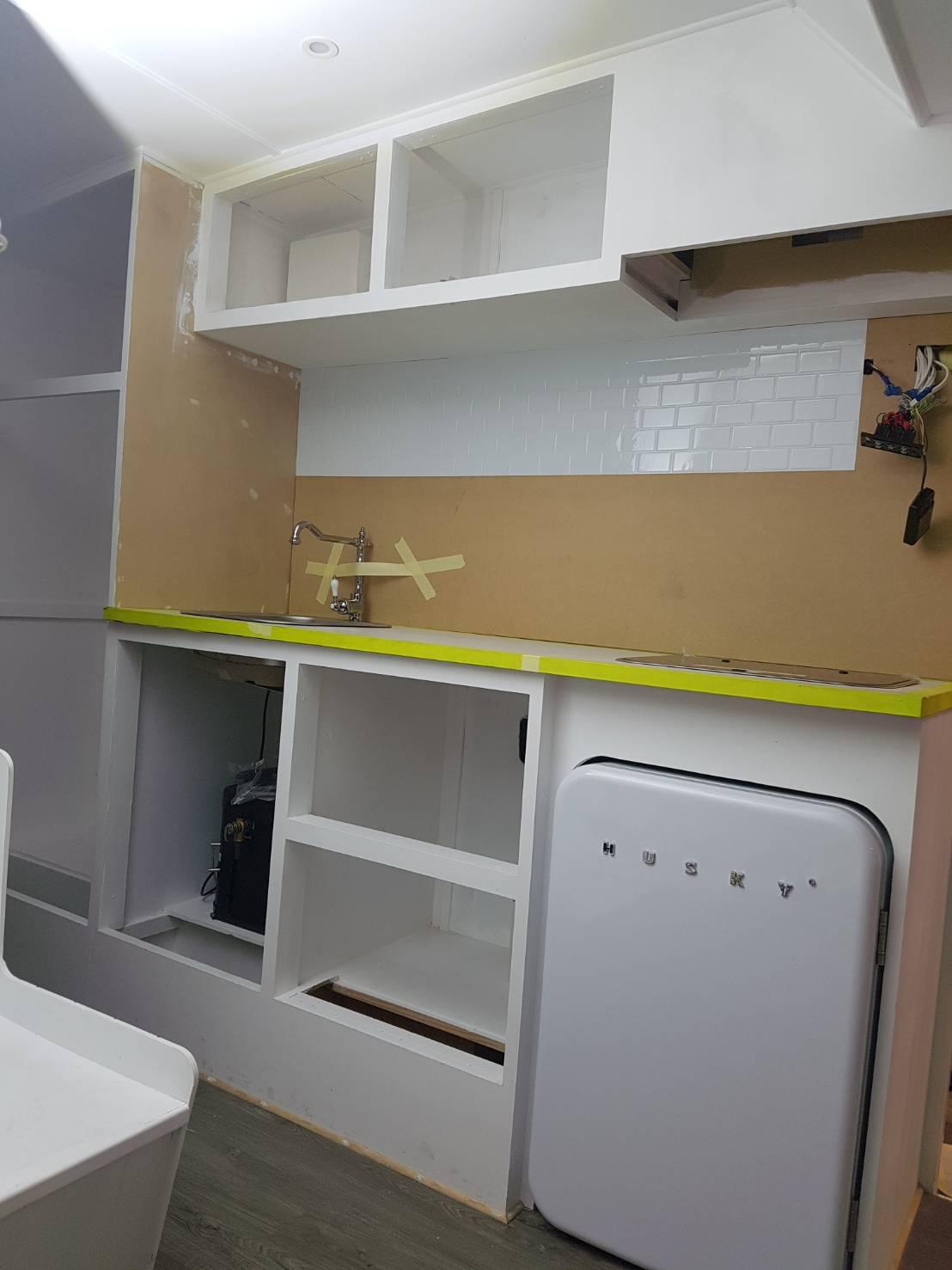 modernise caravan kitchen