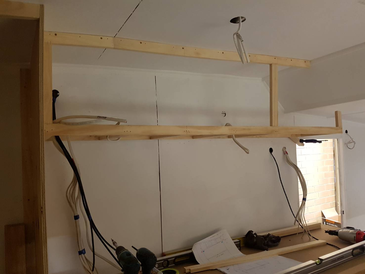 rebuilding caravan interior