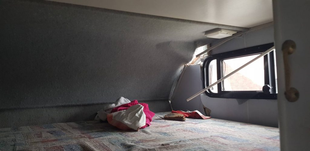 interior damage Winnebago