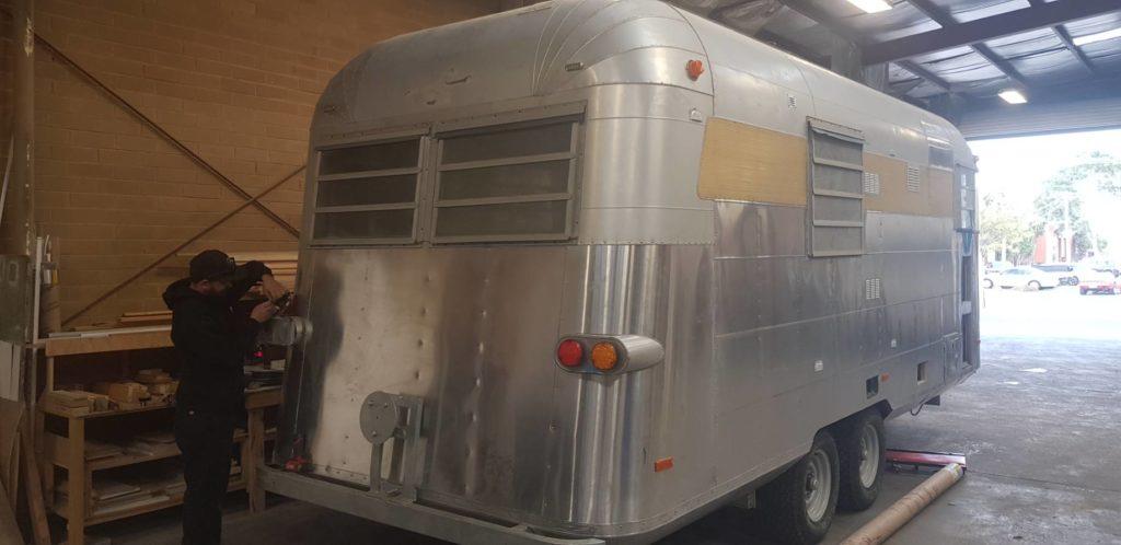 Electrical modifications on vintage caravans